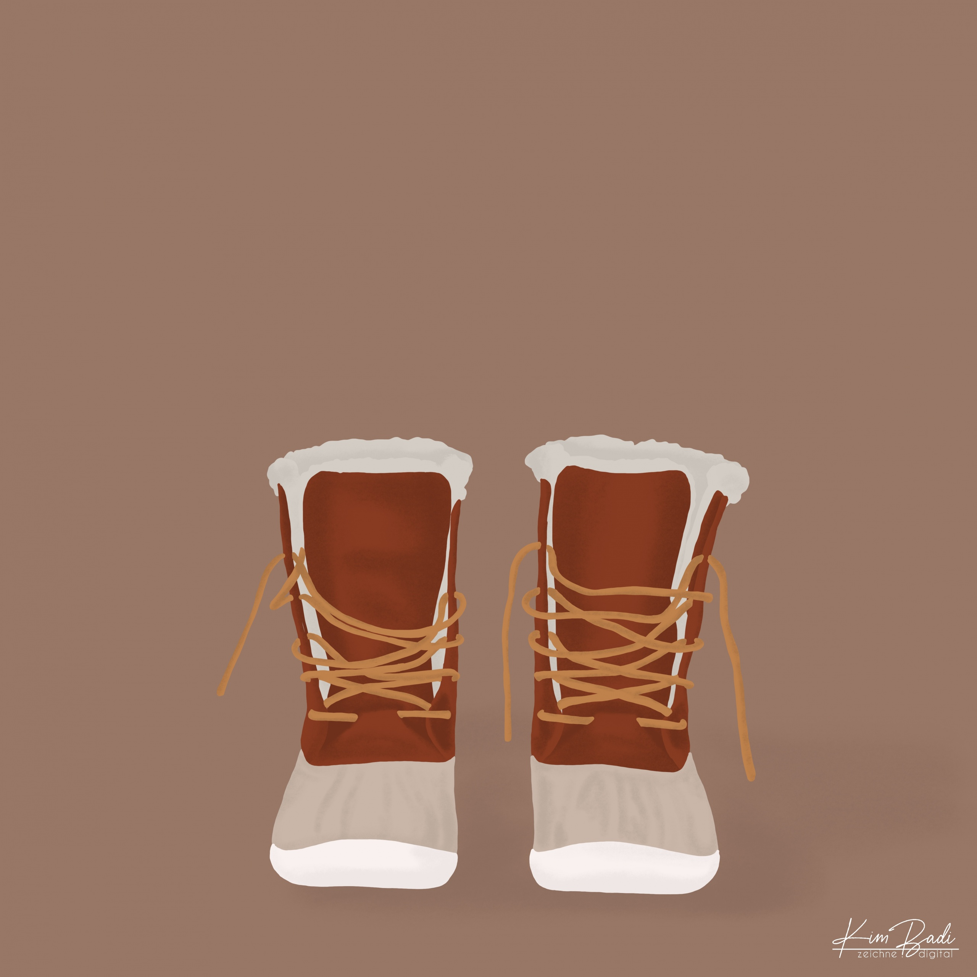 Kim Badi - digitale Kunst - Stiefel auf der Webseite www.kimbadi.com
